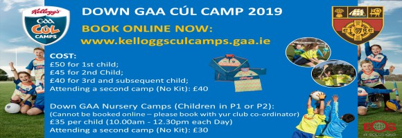 Down GAA launch 2019 Kellogg's Cúl Camps